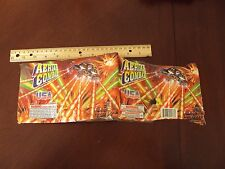 Aerial Combat Fireworks Cake Label ~ Original ~ Great Art Collectible
