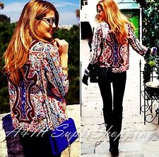 ZARA EMBROIDERED BEADED ETHNIC JACKET PATTERNED BLAZER SMALL S 8 UK 36 EU 4 US
