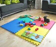 96 sq ft 24 x SOFT EVA FOAM INTERLOCKING KIDS PLAY MAT GYM FLOOR GARAGE MATS
