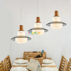 New Contemporary Wooden Glass Pendant Lamp Ceiling Light Chandelier Lighting 365