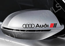 MW10 FITS AUDI LOGO REAR VIEW MIRROR DECALS STICKERS VINYL