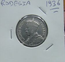735# SOUTHERN RHODESIA - 1 SHILLING 1936 SILBER  KM#3  NICE COIN