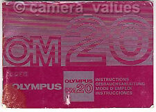 Olympus OM20 Camera Manual More Instruction Books Listd