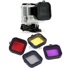 4 Colors Underwater Sea Diving UV Lens Color Filter for GoPro Hero4 3+ Camera