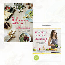 Honestly Healthy in a Hurry and Super Healthy Snacks Collection 2 Books Set NEW
