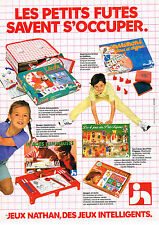 PUBLICITE ADVERTISING 114  1981  NATHAN  jeux jouets