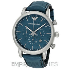 *NEW* MENS EMPORIO ARMANI LUIGI SPORT BLUE CHRONO WATCH - AR1969 - RRP £225.00