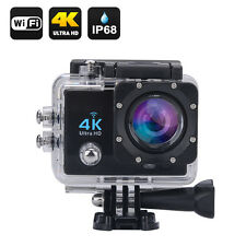 Wi-Fi 4K Waterproof Sports Action Camera - 4K Ultra HD, 16MP,2 Inch LCD Display,