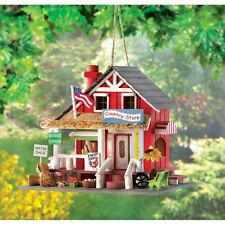 COUNTRY STORE Wooden Birdhouse Bird House Garden Decor New!