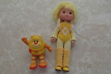 Vintage Rainbow Brite Canary Yellow Doll Light Up Sprite Hallmark Cards 1983 Lot