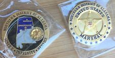 "US Marshals Service - Northern District of Alabama ""MARSMAL"" GOLD challenge coin"