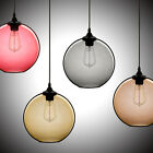 Modern Minimalist Glass Single-Light Globe Pendant Chandelier Lamp Ceiling Light