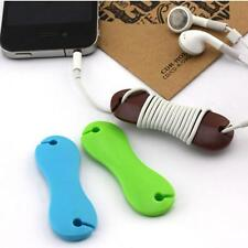 Fish Bone Bobbin Winder Cable Organizer Cord Wire Holder Wrap For Earphone 3PCS