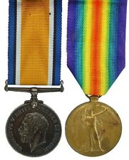 WW1 BRITISH WAR & VICTORY MEDAL PAIR 41039.PTE.B.W.PARKER.YORKS.R