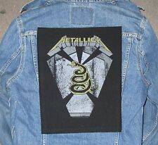 METALLICA pit boss BACKPATCH BACK PATCH  /  LARGE / HEAVY METAL BLACK