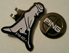 Brand New Gun Metal Black and White Ping Golf Ball marker with hat clip!!