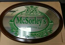 RARE Vintage Genuine McSorley's Beer Pub Bar Mirror - St.Patty's Day