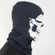 Balaclava Dark Gray Skull / Motorcycle Ski SnowBoard Neck Warmers Full Face Mask