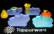 Tupperware ~4 Pooh plates ~Bell Tumbler ~Snack Be Nimble Cup ~Formula Dispenser