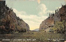 Entrance to Box Canyon near Rif le Colorado Antique Postcard L25