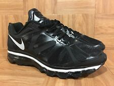 RARE�� Nike Air Max 2012+ Black White Running Shoe Mismatched Right-8.5 Left-9.5