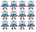 12 STAND UP GIGGLE AND HOOT EDIBLE WAFER CARD CUPCAKE DECORATION IMAGE TOPPER