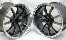 "17"" Anthracite Mustang FR500 Wheels Deep Dish 17x9 17x10.5 inch 5x4.5 94-04"