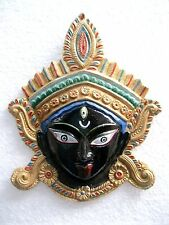 KALI MAA DURGA MATA METAL BLACK FACE WALL HANGING DECOR RELIGIOUS EDH