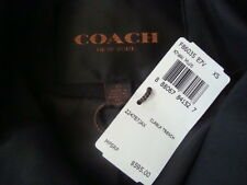 NWT$595 COACH NEW YORK Belted Leather Trim Logo Long Trench Coat Jacket Sz XS