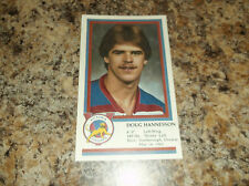 1982-83 VICTORIA COUGARS DOUG HANNESSON WHL PLAYER CARD (NON ISSUED CARD)