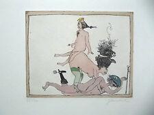JANOSCH - Marquis de Sade , FARBRADIERUNG - HANDSIGNIERT, NUMMERIERT