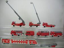 AE689-1# 7x Wiking H0 Feuerwehr-Modelle, Leiterwagen, Rüstwagen etc. MB,Magirus