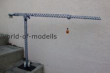 ROS Comansa Turmdrehkran Linden 21LC 290 mit Bodenplatte und Betonkübel  1:87