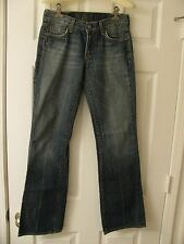 "7 For All Mankind Stretched Womens Jeans ""Dojo"" Sz 27 Wide Flare"