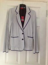 Blue and white stripe Vivien Caron jacket size