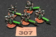 Games Workshop Warhammer 40k Necron Immortals x5 Well Painted Necrons Squad Army