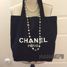 Chanel black canvas tote VIP gift bag