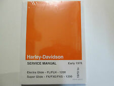 1975 1976 Harley Davidson Electra Super Glide Service Repair Shop Manual OEM x