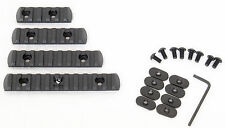 20mm RIS Polymer Rail Section Set for Magpul MOE PTS Handguard 4 Pcs Black Rails