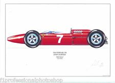 John Surtees ltd.ed.signed art print- 1964 Ferrari 158