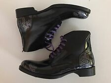 ROBERT GRAHAM NEW Leeds Black Upper Leather Men's Boots Made In Italy  Size 11