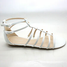Nine West Women's Aboutthat Synthetic Gladiator Sandal White Size 11 M US