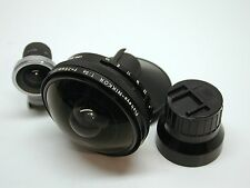 NIKON 7.5MM F5.6 FISH-EYE LENS..FINDER..CAPS.EXCEPTIONALLY CLEAN..RARE..GRAB IT.
