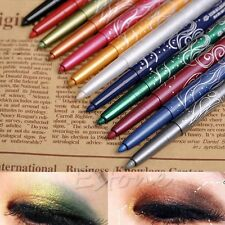 Professional Eye Shadow Lip Liner Eyeliner Pen Pencil Makeup 1 Set 12 Color