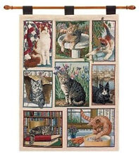 Kitty Corner ~ Cats & Kittens Tapestry Wall Hanging