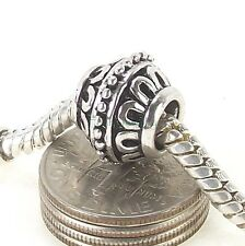 Antique Silver Plated Lantern Metal Bead Large Hole Charm fit Charm Bracelet