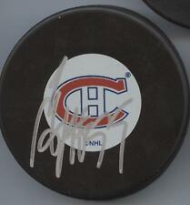 SERGEI GONCHAR SIGNED MONTREAL CANADIENS HOCKEY PUCK w/ COA
