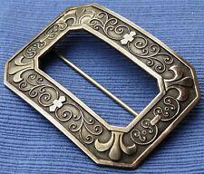 Antique Sterling Silver Fleur De Lis Sash Pin Brooch Art Nouveau