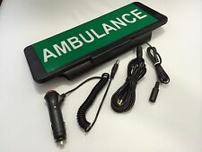 LED Univisor AMBULANCE Sign visor illuminated flashing with Remote Control
