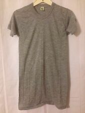 Vintage Large 1960's/1970's BLANK Gray 50-50 Mint T-Shirt. USA Made. Movie Prop?